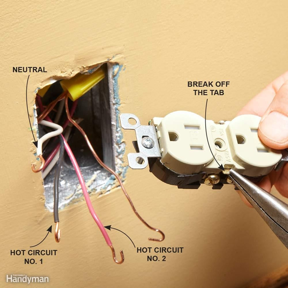 Wiring A Switch And Outlet The Safe Easy Way In 2018 Workshop Electrical New There Are Few Different Reasons That An Breakaway Tab May Be Removed If