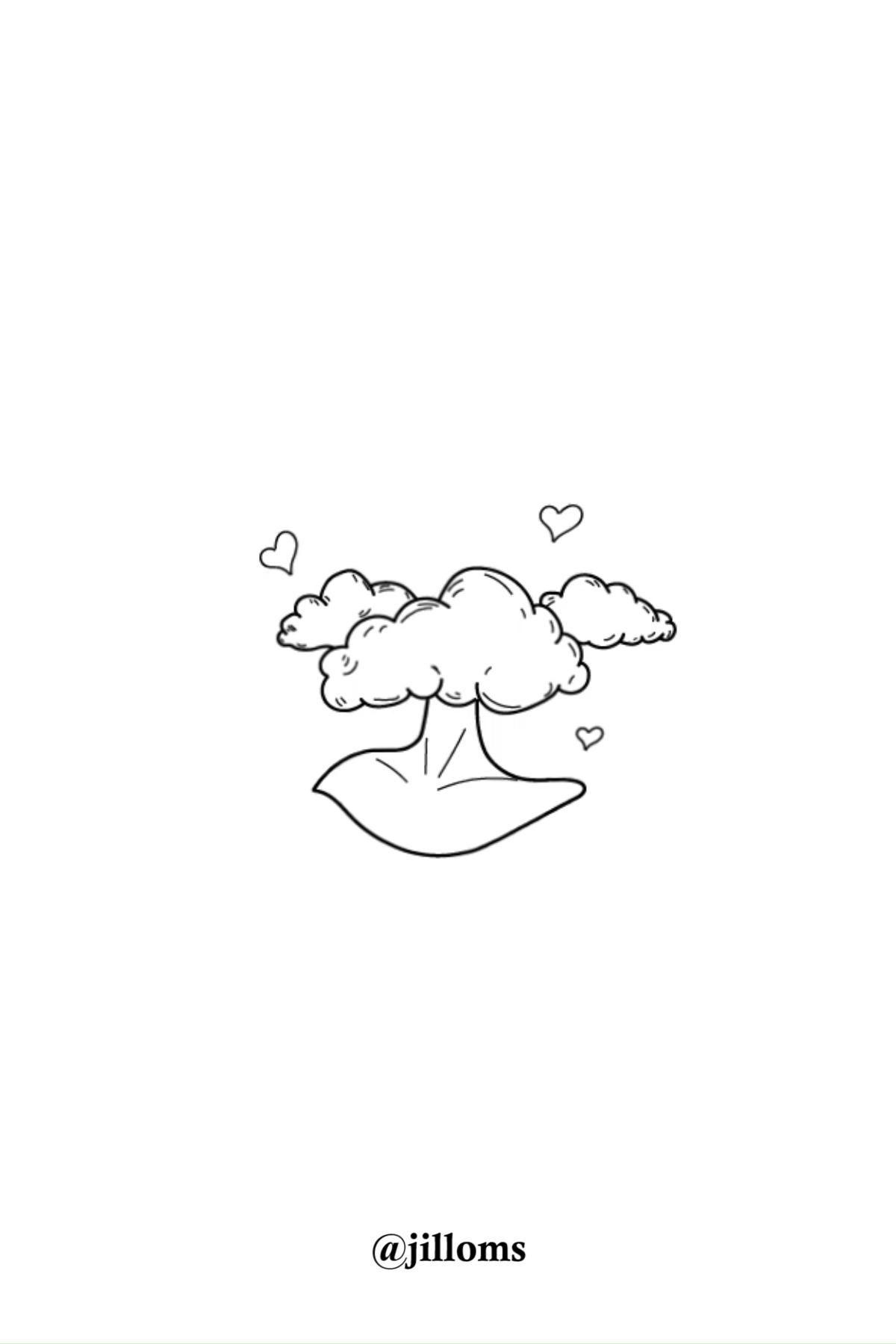 Minimalist Drawing Of Head In The Cloud Jillom On Youtube Illustration Essay Lonelines Lineart Illu Line Art Drawings Michelangelo
