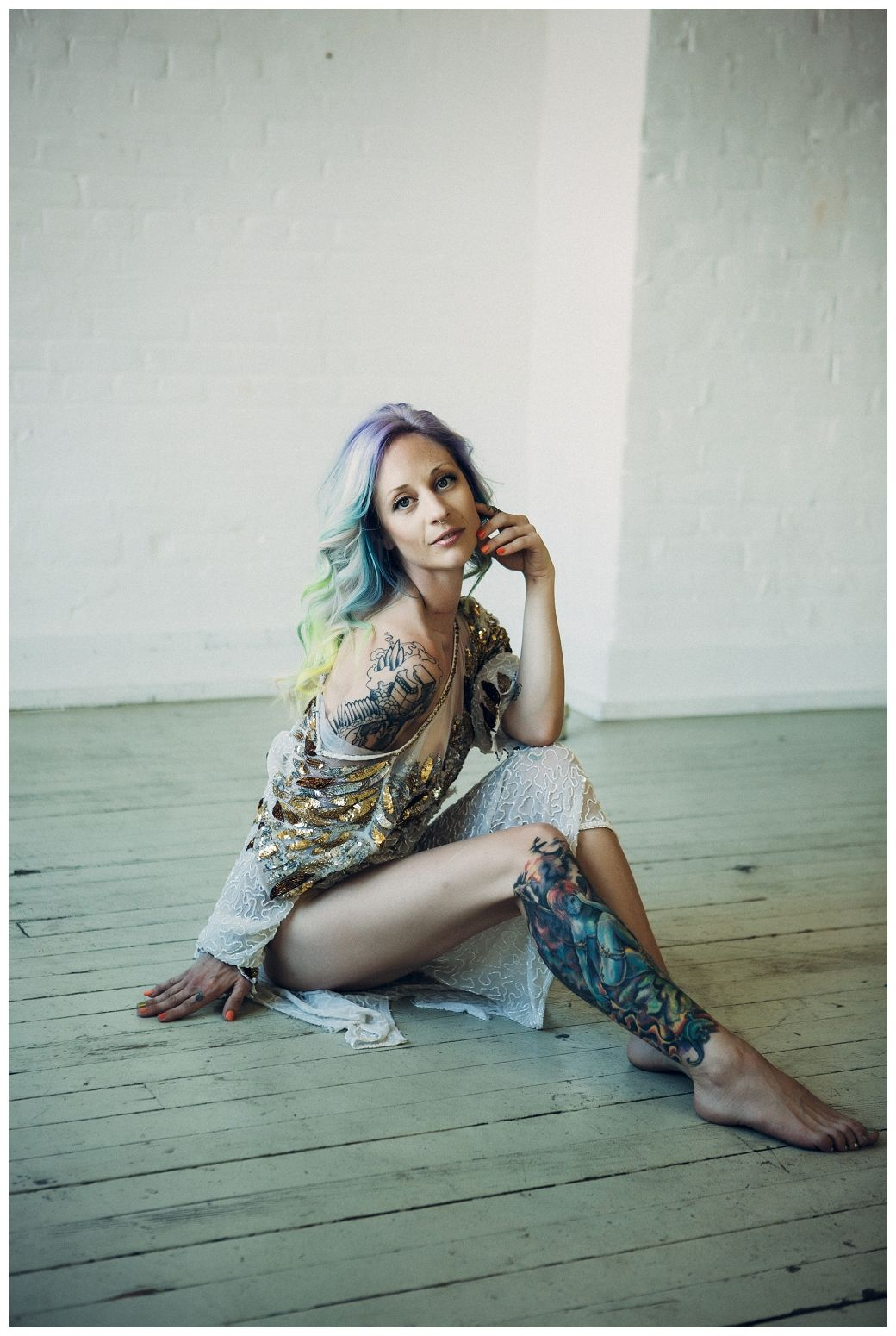 Straight perm winnipeg - Winnipeg Women Photography Boudoir Photography Sequin Dress Mermaid Mermaid Hair Pastel