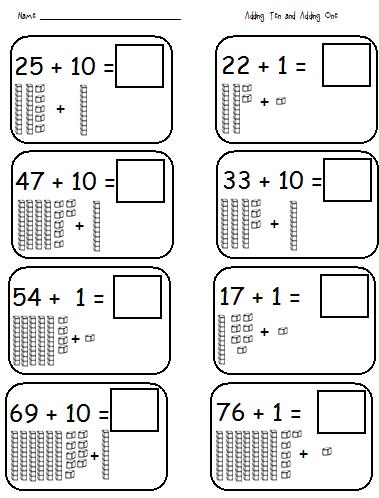 math worksheet : adding tens worksheets first grade  worksheets : Math Tens And Ones Worksheets First Grade