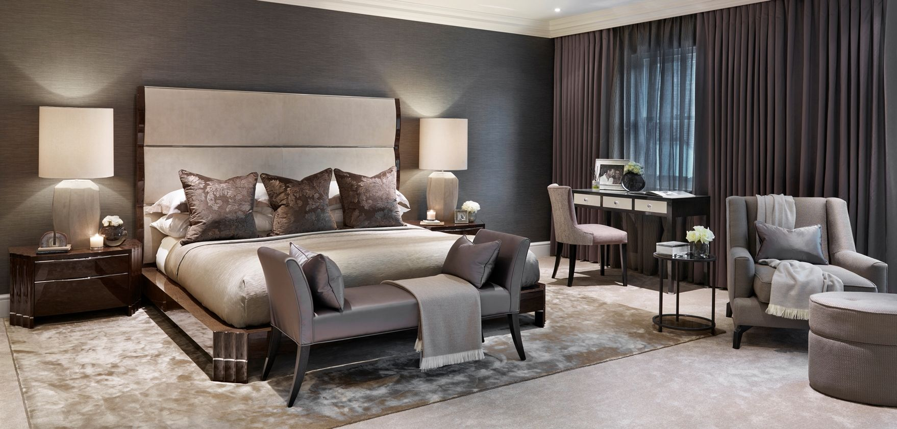 Cobham luxury interior design london surrey sophie for Luxury residential interior designers london