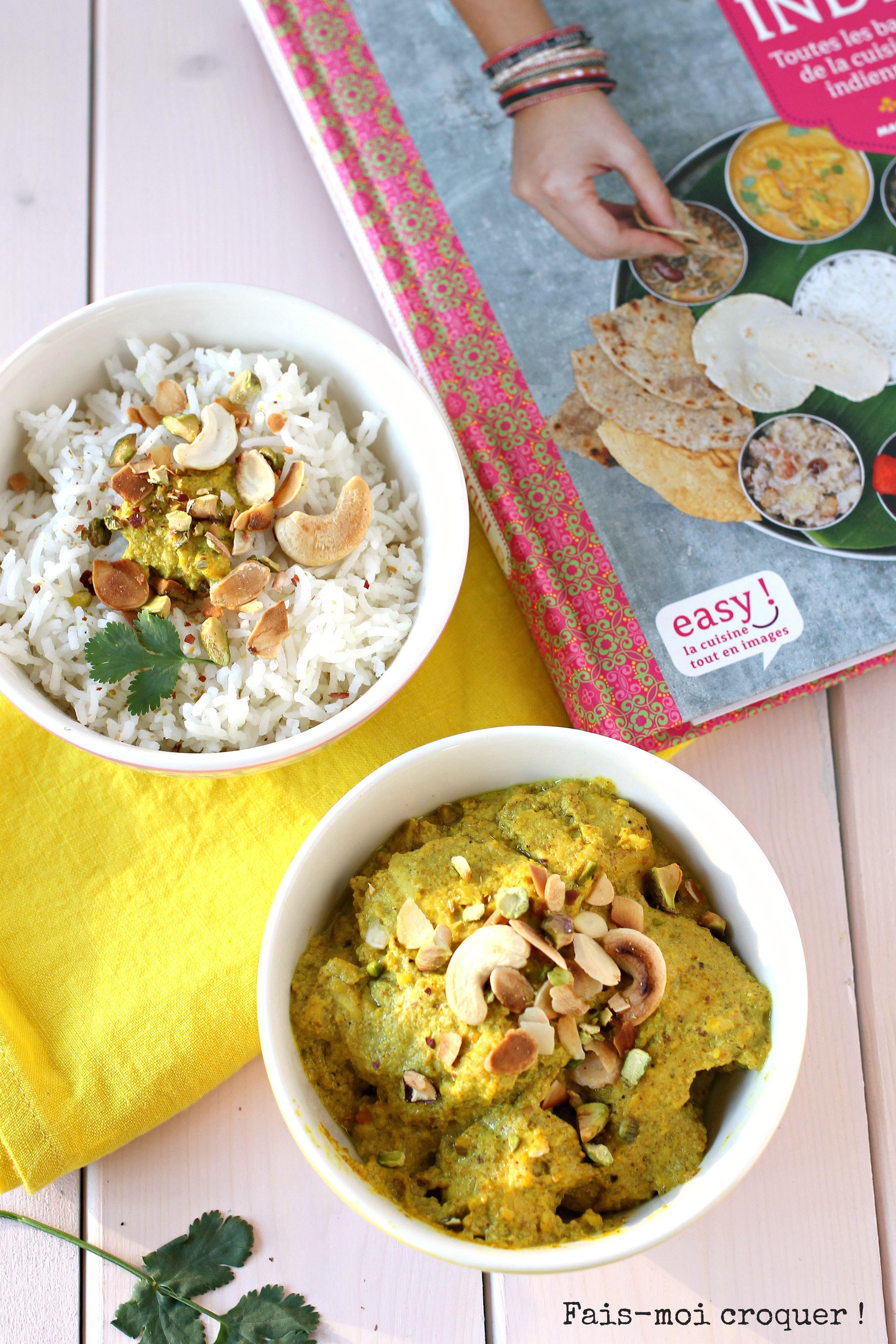 Poulet korma et livre de cuisine indienne de sanjee for Livre de cuisine indienne
