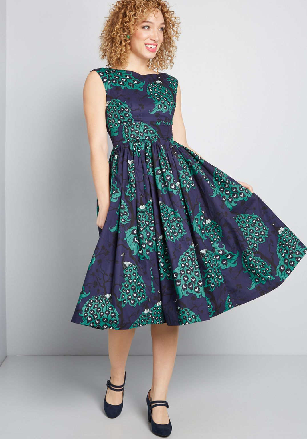 Fabulous fit and flare dress with pockets flare dress