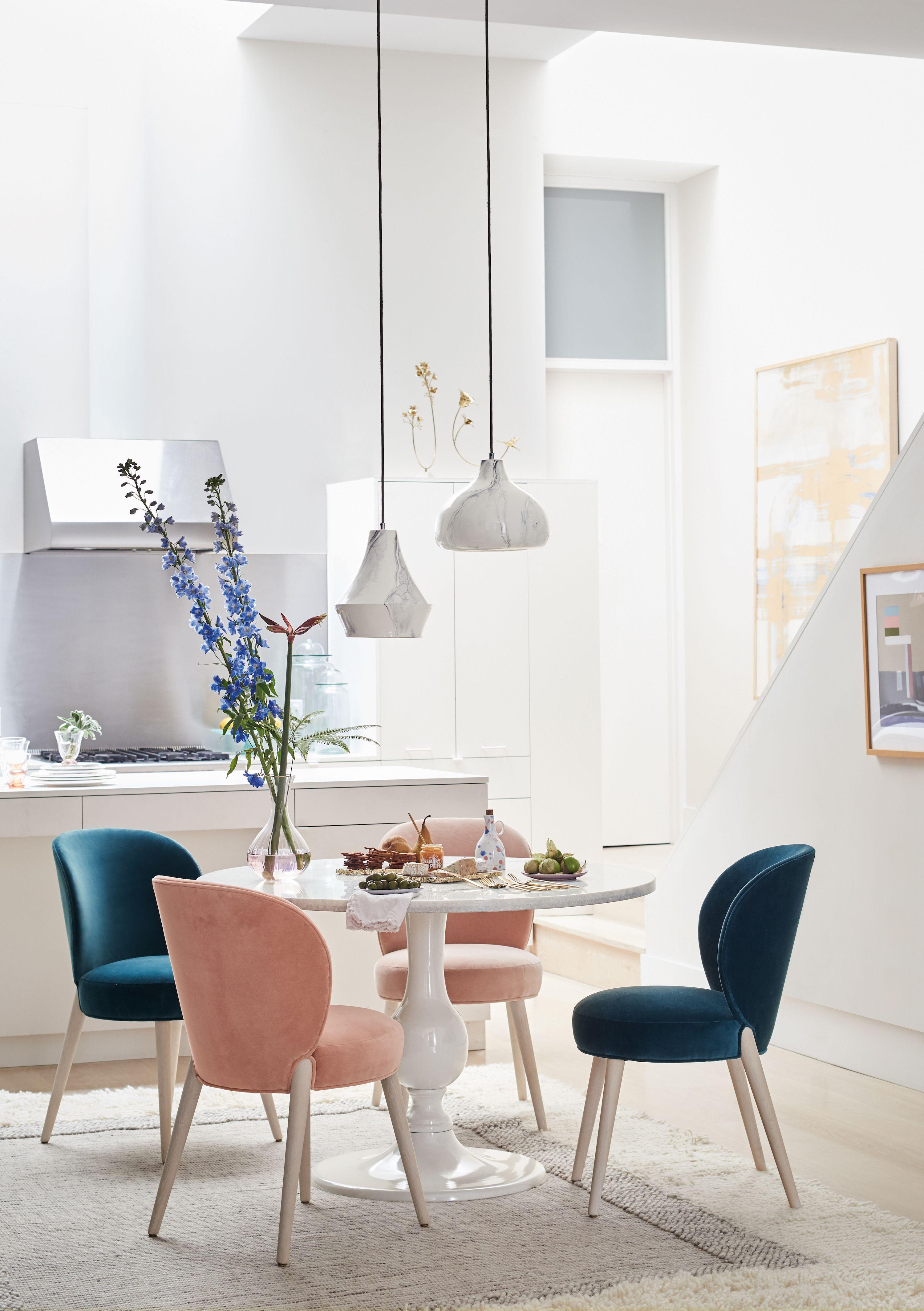 Velvet Remi Dining Chair Dining Room Small Minimalist Dining