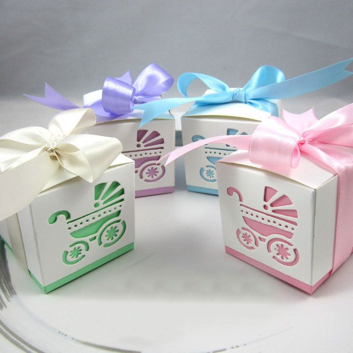 Cheap Wedding Party Favors, Buy Quality Baby Shower Directly From China Baby  Shower Decorations Suppliers: Laser Cut Baby Carriage Favor Candy Box Party  ...