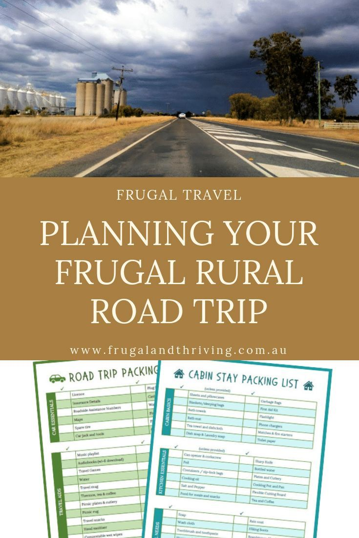 Tips on taking a rural road trip. Benefits, driving tips, packing tips, money saving tips. What to do. Free packing list and cabin stay packing list. #travelaustralia #budgetholiday via @goodymel