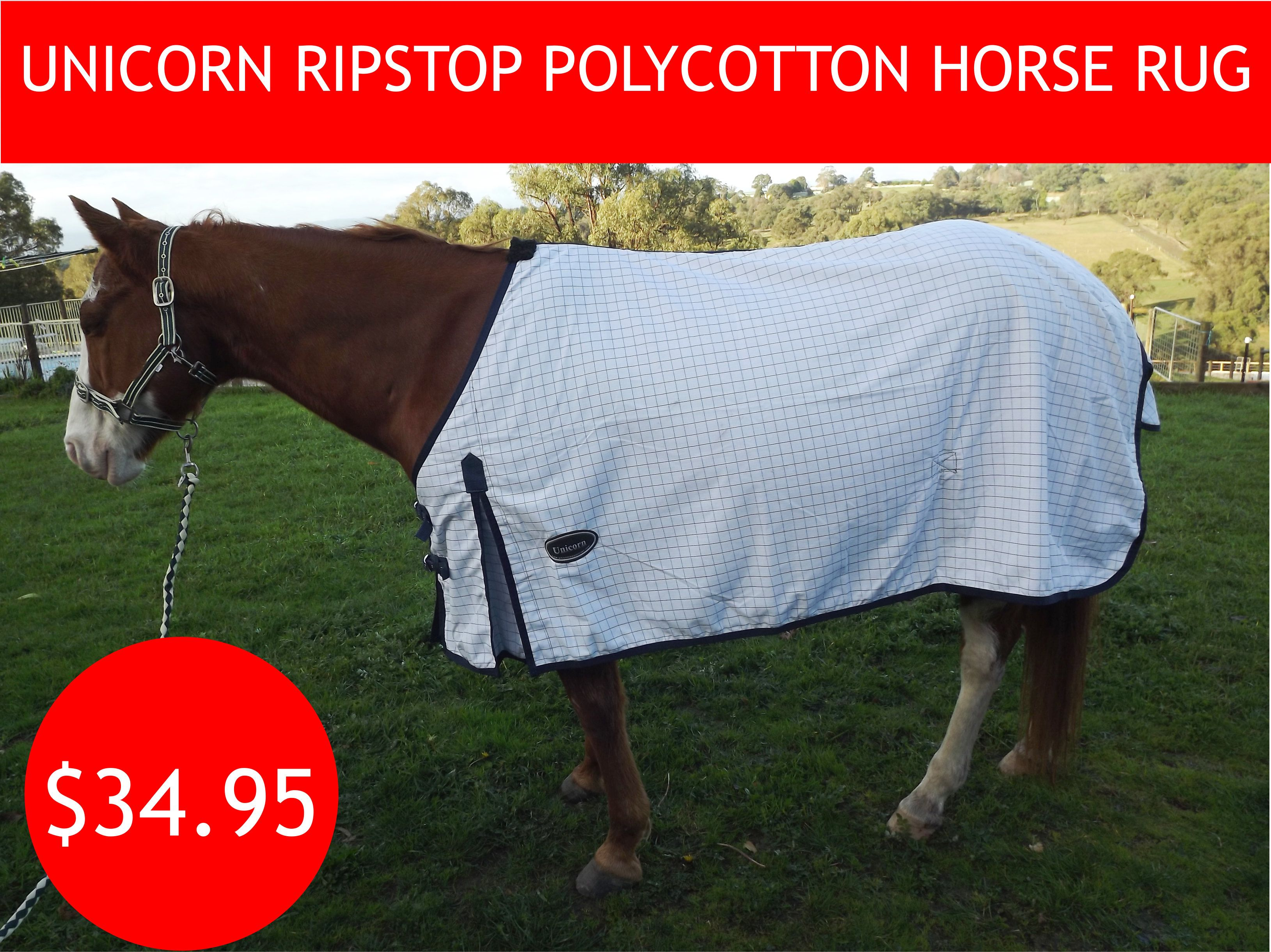 Trusty Ripstop Regular Polycotton Horse Rug Horse Rugs Well Woven Summer Rugs