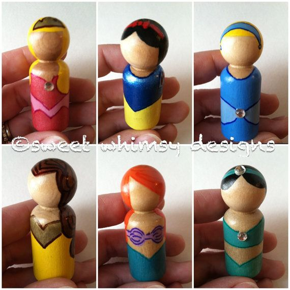 Emily Stocking Stuffer. the princess collection - individual peg doll