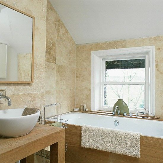 Stein gefliestes Bad Wohnideen Badezimmer Living Ideas Bathroom ...