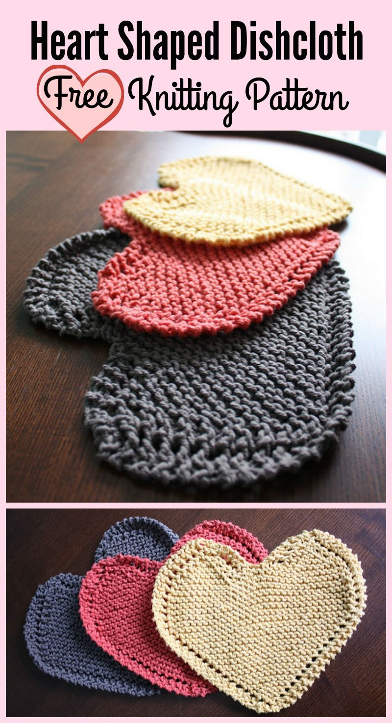 Heart Shaped Dishcloth Free Knitting Pattern All Things Knit And
