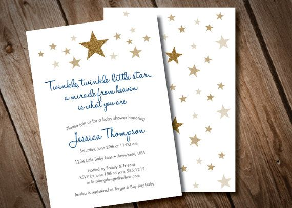 photograph about Free Printable Twinkle Twinkle Little Star Baby Shower Invitations titled Pin upon Boy or girl shower invitations