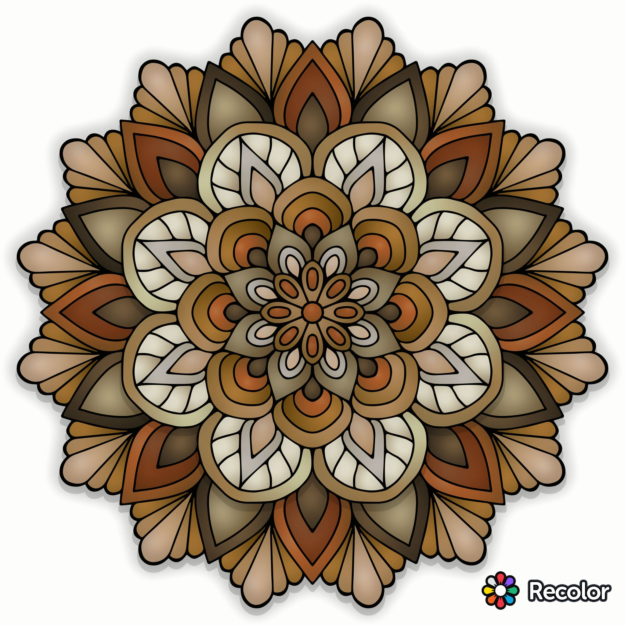 Pin de pat en Coloring pages | Pinterest | Pintura tela, Mandalas y ...