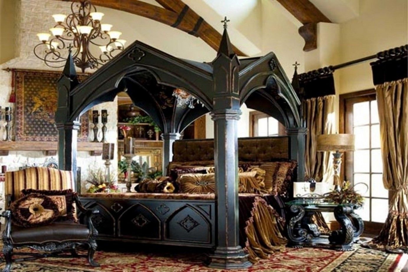 25 Surprisingly Stylish Gothic Bedroom Design And Ideas  Gothic Entrancing Gothic Bedroom Furniture Decorating Design