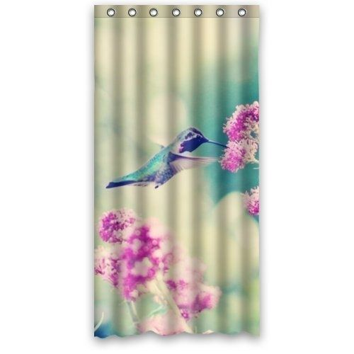 Bird Awesome Hummingbird Shower Curtain Waterproof Polyester