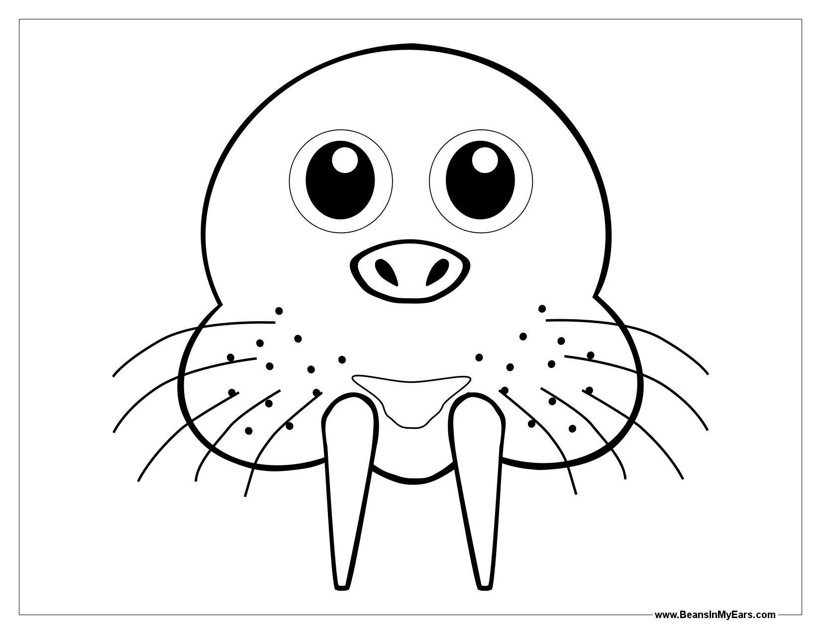 Walrus Mask Template