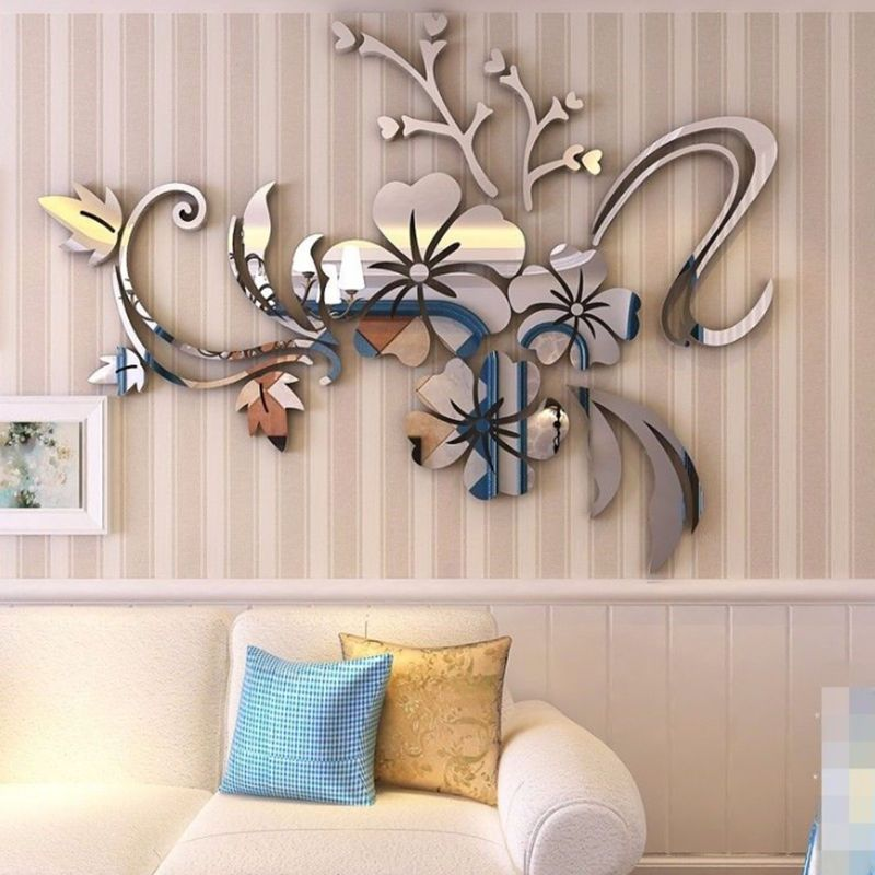 DIY 3D Acrylic Modern Mirror Decal Mural Wall Sticker Home Decor Removable