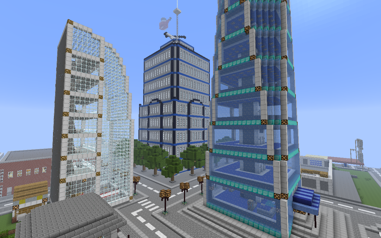 Creative minecraft city building minecraft pinterest for Modern building design minecraft
