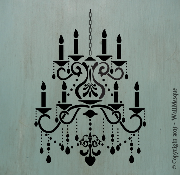 Chandelier stencil with extra repeating chain stenciling chandelier stencil with extra repeating chain aloadofball Image collections