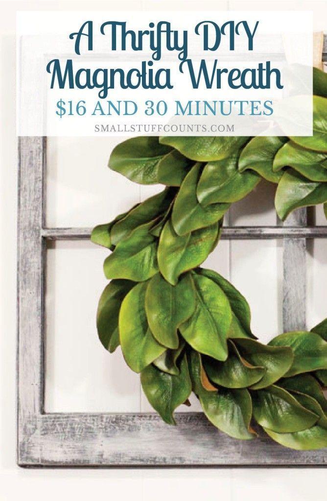 Photo of An economical DIY magnolia wreath – Small Stuff Counts