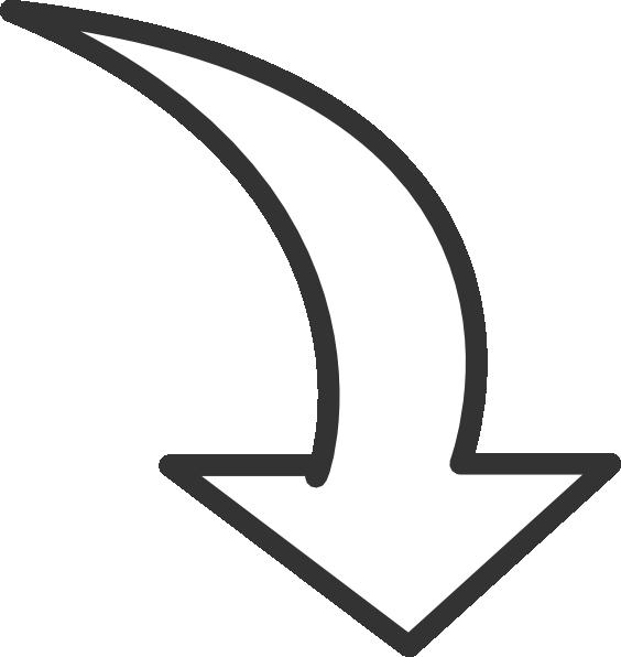 White Curved Arrow Clip Art At Clker Com Vector Clip Art Online Clip Art Curved Arrow Free Clip Art