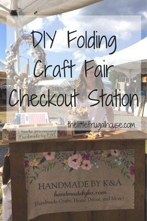 DIY Folding Craft Fair Checkout Stand #craftfairs