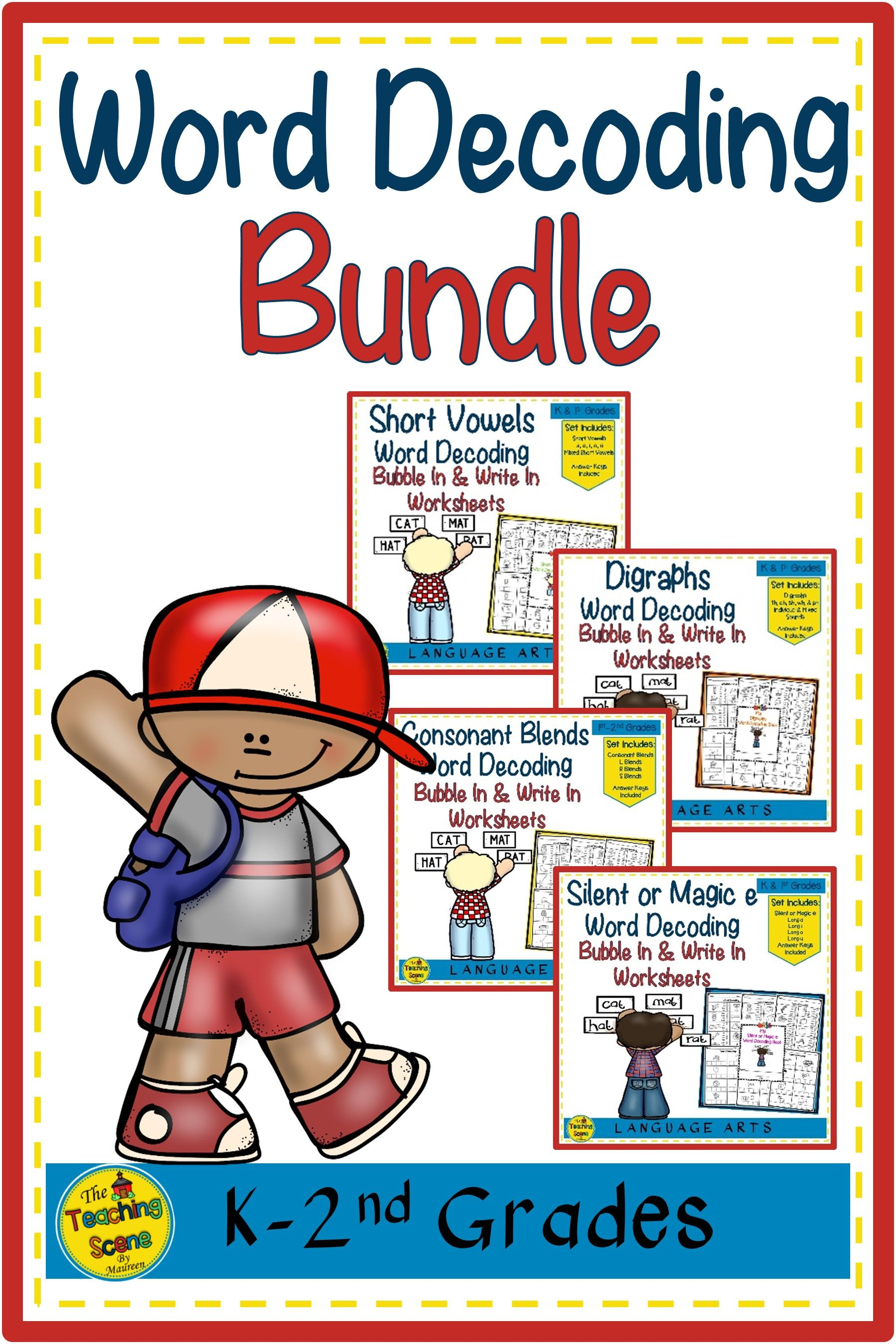 Word Decoding Bundle 1 Short Vowels Digraphs Blends