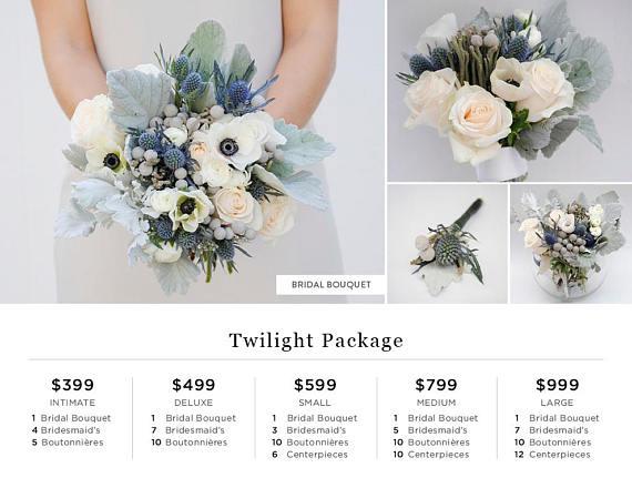 Navy Blue Wedding Flower Package Dusty Blue Wedding Anemone Wedding Flowers Wedding Flower Packages Wedding Flower Guide Blue Wedding Flowers