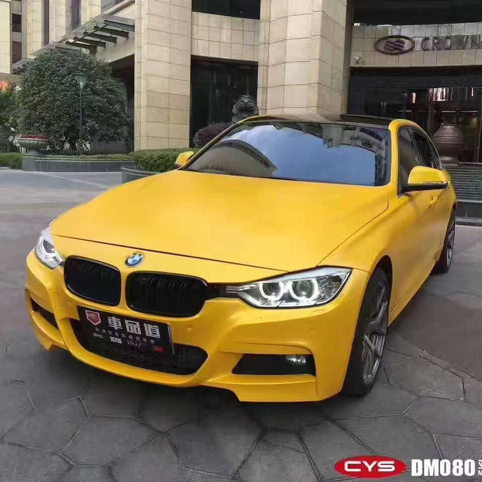 BMW Matt Diamond Gold Yellow cys cyscarwrap vinyl
