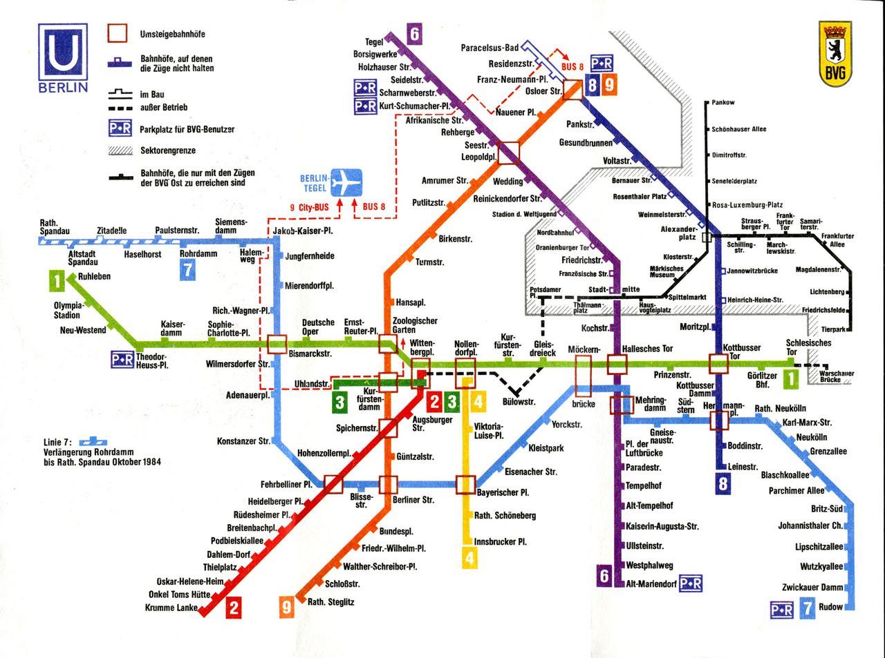 This Post Is Of A Scan From A Berlin U Bahn Map Of 1983 No S Bahn