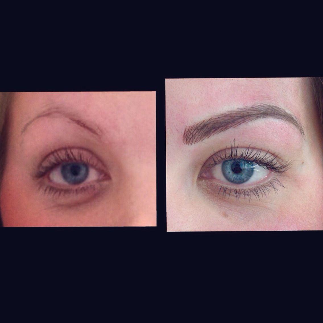 Semi permanent eyebrow tattoo kent ciekawe pinterest for Semi permanent tattoo eyebrows