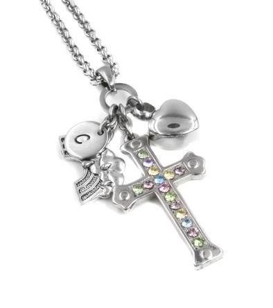 Heart Urn Necklace Rainbow Cross Urn Cross Necklaces And Rainbows
