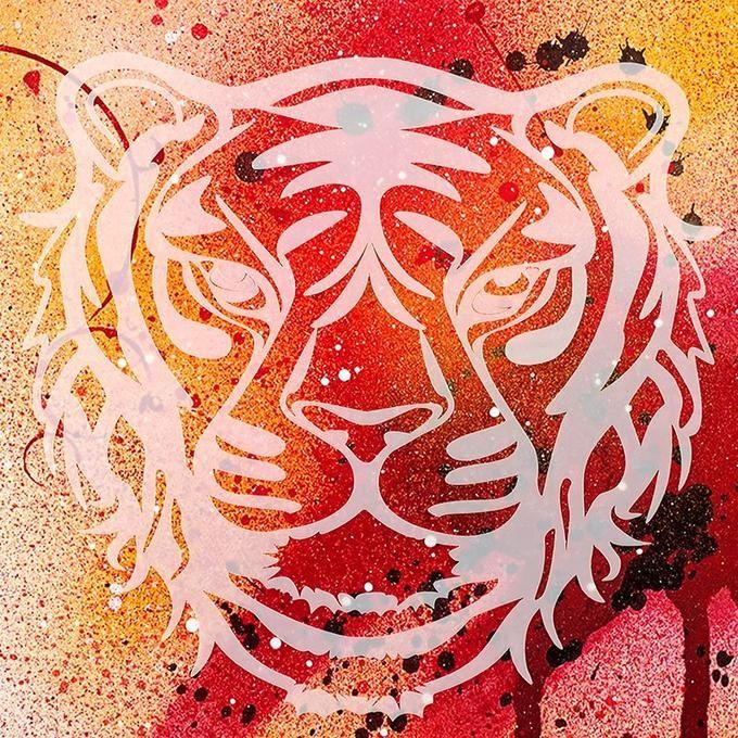 28900007 Трафарет-силуэт Marabu арт.28900007 цв.007 тигр 30*30 см