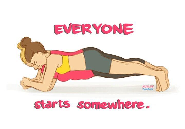 Start somewhere just get up