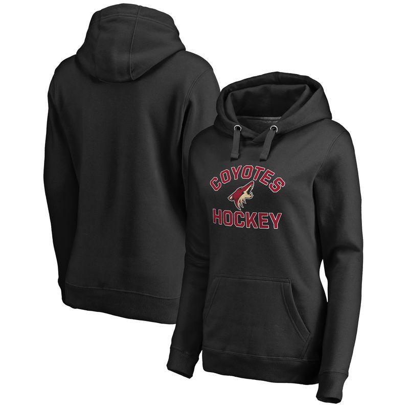 Arizona Coyotes Fanatics Branded Women's Overtime Plus-Size Pullover Hoodie - Black