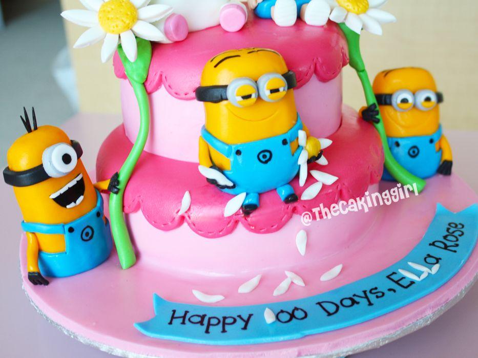girly despicable me minion cake Sweet Cakes Pinterest Minion