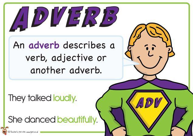 Adverb. Superhero themed grammar resource for Literacy KS1 ...