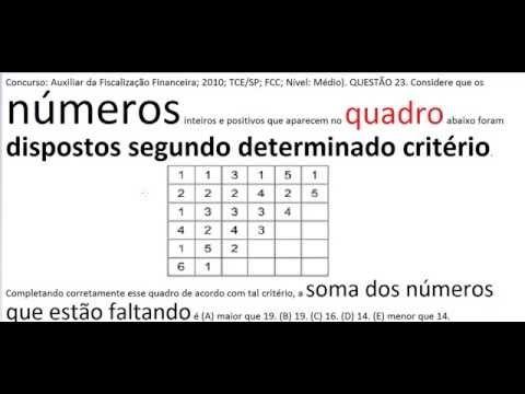 Curso Raciocínio Lógico Sequência números Teste Psicotécnico Detran Conc... https://youtu.be/KW3fILKajiY