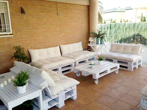 Faire un salon de jardin en palette | Pinterest | Pallet projects ...