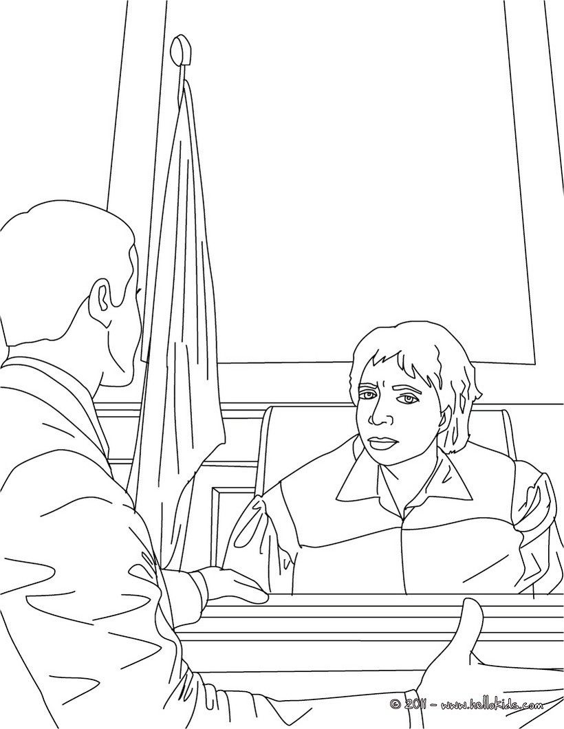 Attorney And Judge Coloring Page Amazing Way For Kids To Discover Job More Original Content On Hellokids Coloring Pages Online Coloring Pages Coloring Books
