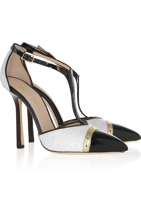 Hot Deals Emilio Pucci Suede Black And Patent leather Pumps