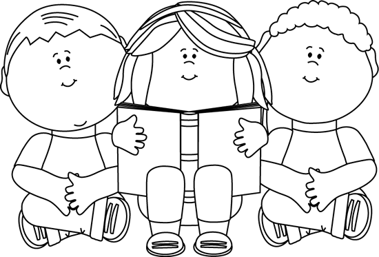 Clip Art Black And White Black And White Kids Reading Clip Art Image Black And White Outline Would Be So Clip Art Free Clip Art Clipart Black And White