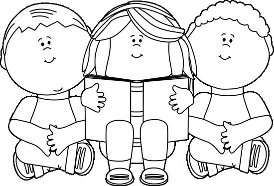 Clip Art Black And White Black And White Kids Reading Clip Art Image Black And White Outline Clip Art Free Clip Art Clipart Black And White