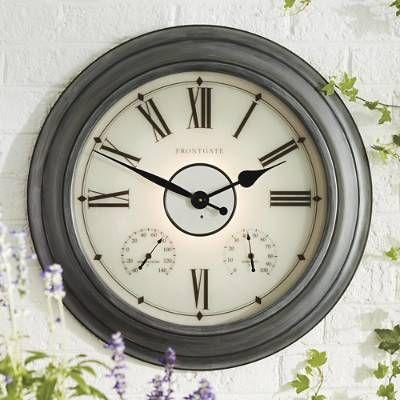 Collins Illuminated Outdoor Clock Frontgate Outdoor Clock Large Outdoor Clock Clock