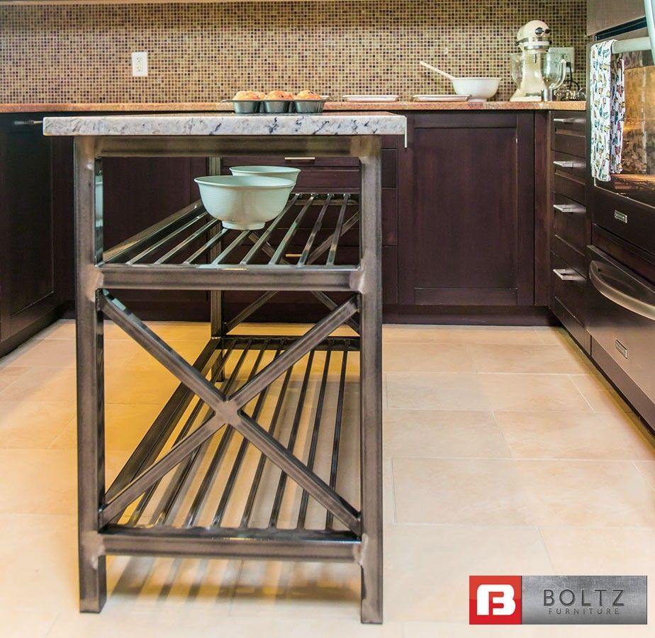 Metal Kitchen Island Tables Chef X Kitchen Island Cart By Kitchen Dining Boltz Steel