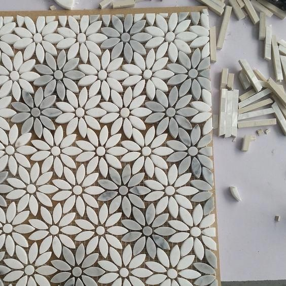Photo of Luxury Mosaic Marble Designs Glass Mosaics Kitchen & Bathroom Tiles