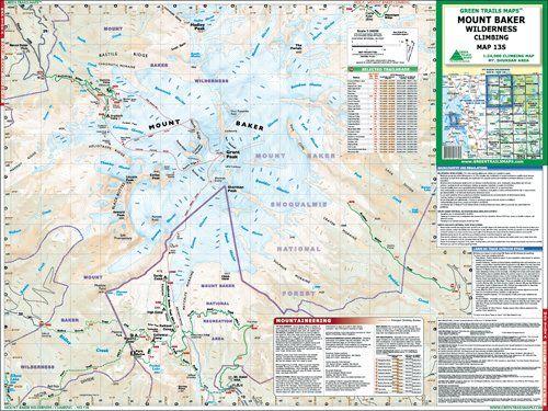 Green Trails Maps Mount Baker Wilderness Climbing 13S ...