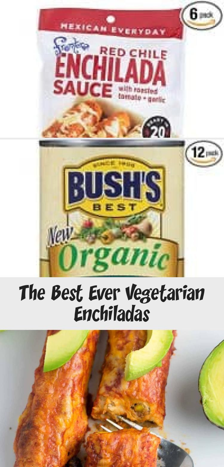 The best vegetarian enchiladas youll ever eat Packed full of veggies and creamy cheesy flavor and topped with fresh avocado and lime