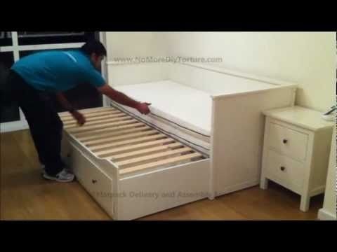 IKEA Hemnes Day (Trundle) Bed with 3 Drawers White Office