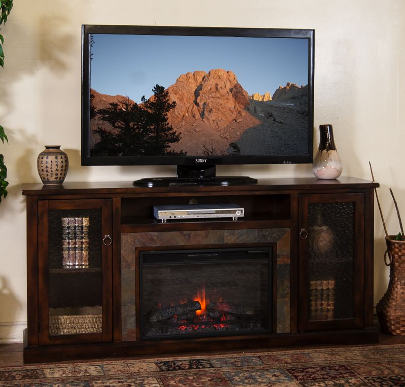 electric fireplace 70 tv stand » The Fireplace Gallery - Amazon.com: Real Flame Hawthorne Electric Fireplace TV Stand In