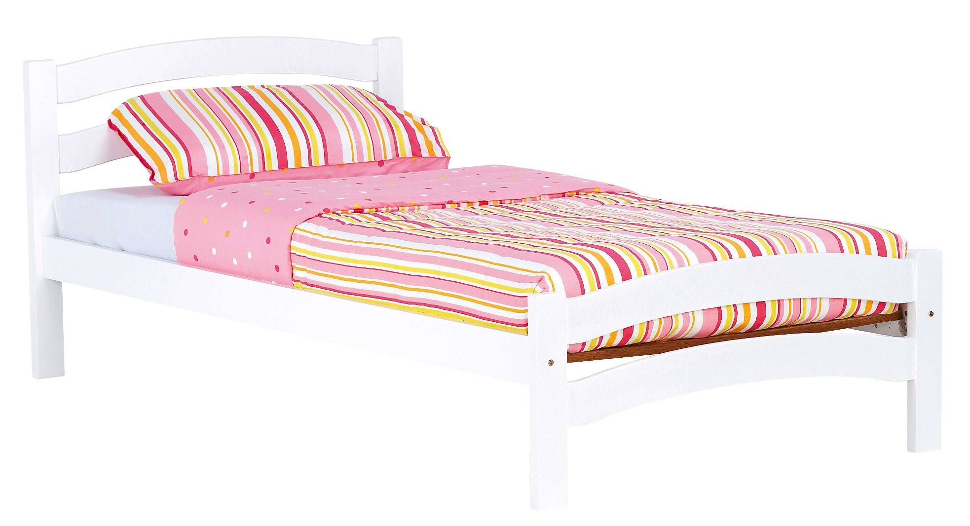 Aurora White Bed Frame by Nero Furniture from Harvey